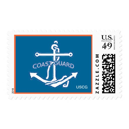 US Coast Guard Anchor Postage Stamp