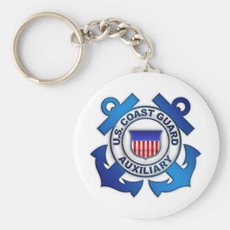 US Coast Guard Auxiliary Basic Round Button Keychain