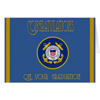 US Coast Guard Basic Training Congratulations Card