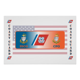US Coast Guard Chief Petty Officer Shield Poster