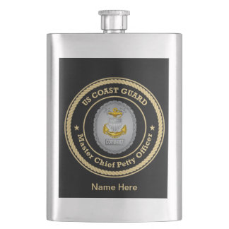 US Coast Guard Command Master Chief Petty Officer Flask