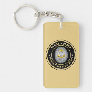 US Coast Guard Command Master Chief Petty Officer Rectangle Acrylic Keychain