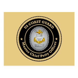 US Coast Guard Command Master Chief Petty Officer Postcard
