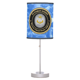US Coast Guard Command Master Chief Petty Officer Table Lamp