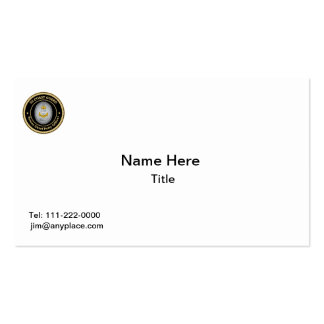 US Coast Guard Command Senior Chief Petty Officer Business Card Template