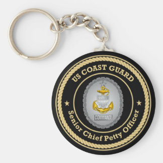 US Coast Guard Command Senior Chief Petty Officer Key Chains