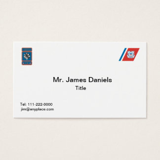 US Coast Guard Commander Logo Business Card
