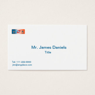 US Coast Guard Commander Shield Business Card