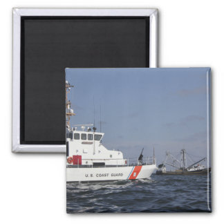 US Coast Guard Cutter Marlin patrols the waters 2 Inch Square Magnet