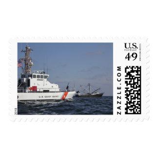 US Coast Guard Cutter Marlin patrols the waters Postage