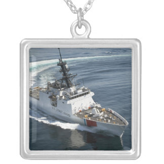 US Coast Guard Cutter Waesche 2 Silver Plated Necklace
