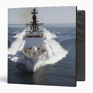 US Coast Guard Cutter Waesche 3 Ring Binder