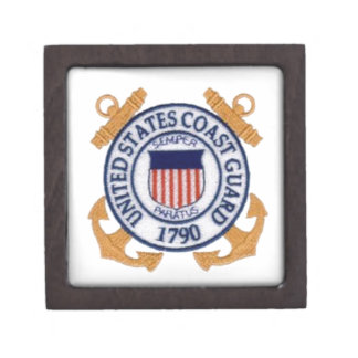 US Coast Guard Emblem1 Premium Jewelry Box