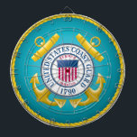 "US Coast Guard Emblem Dart Board<br><div class=""desc"">he&#160;United States Coast Guard&#160;(USCG) is a branch of the&#160;United States Armed Forces&#160;and one of the country&#39;s seven&#160;uniformed services. The Coast Guard is a maritime, military, multi-mission service unique among the U.S. military branches for having a&#160;maritime law enforcement&#160;mission (with jurisdiction in both domestic and international waters) and a&#160;federal&#160;regulatory agency&#160;mission as part...</div>"
