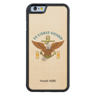 US Coast Guard Ensign Eagle Anchor Carved® Maple iPhone 6 Bumper