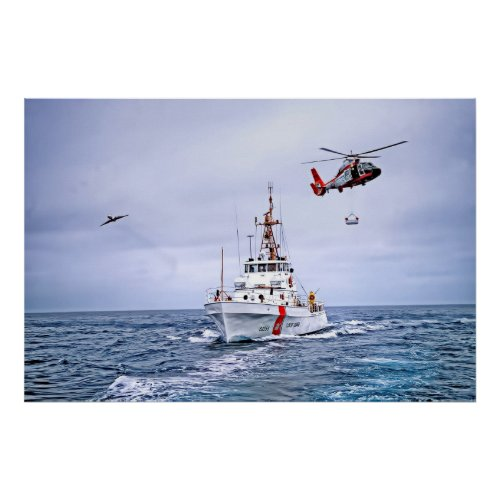 US Coast Guard in Action Poster