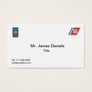 US Coast Guard Lieutenant Commander Logo Business Card