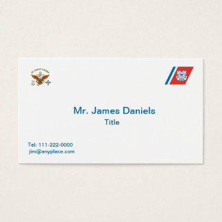 US Coast Guard Master Chief AMT Business Card
