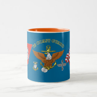 US Coast Guard Master Chief AMT Two-Tone Coffee Mug