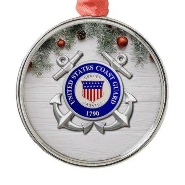 US Coast Guard Metal Ornament
