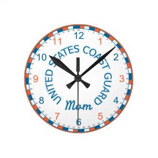 US Coast Guard Mom Wall Clock
