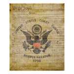US Coast Guard Parade Flag Poster