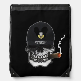 US Coast Guard PO1 Scull Cigar Drawstring Bag