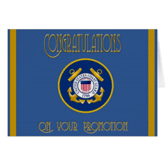 US Coast Guard Promotion Card