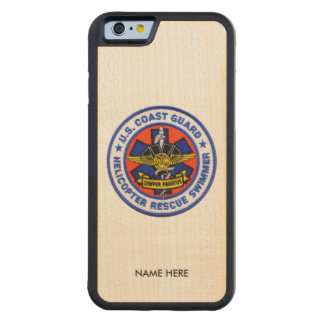 US Coast Guard Rescue Swimmer Carved® Maple iPhone 6 Bumper