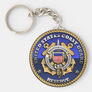 US Coast Guard Reserve Basic Round Button Keychain