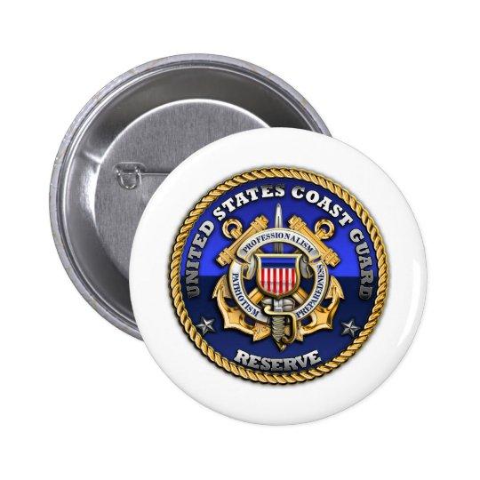 US Coast Guard Reserve Pinback Button