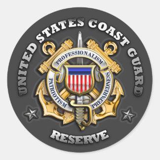 US Coast Guard Reserve Classic Round Sticker