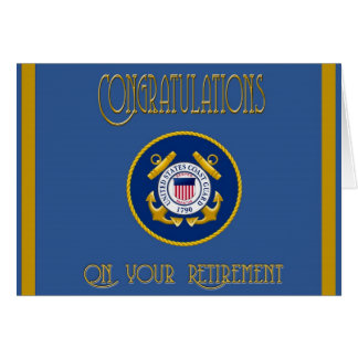 US Coast Guard Retirement Card