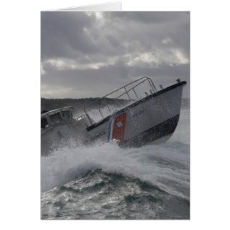 US Coast Guard Ship Patrolling Card