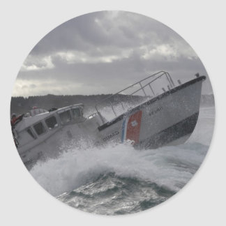 US Coast Guard Ship Patrolling Classic Round Sticker