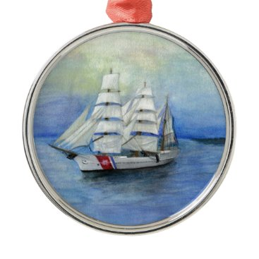 US Coast Guard Ship the Eagle Metal Ornament