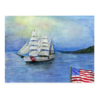 US Coast Guard Ship the Eagle Postcard