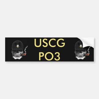 US Coast Guard Third Class Petty Officer Car Bumper Sticker