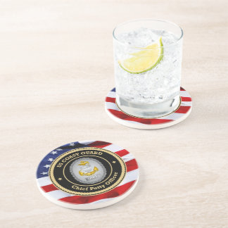 US Coast Guard Unit Chief Petty Officer Beverage Coasters