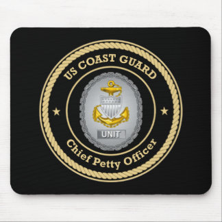 US Coast Guard Unit Chief Petty Officer Mouse Pads