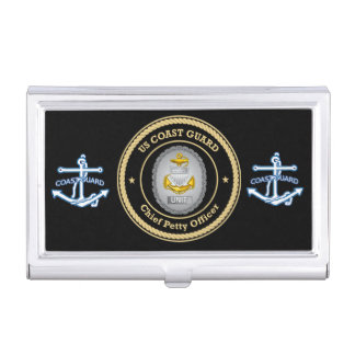 US Coast Guard Unit Chief Petty Officer Business Card Holder