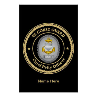US Coast Guard Unit Chief Petty Officer Poster