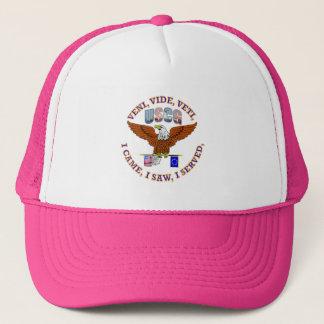 US Coast Guard Veteran VVV Shield Trucker Hat