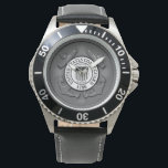 "US Coast Guard Wrist Watch<br><div class=""desc"">US Coast Guard Military Logo With Old American Flag.</div>"