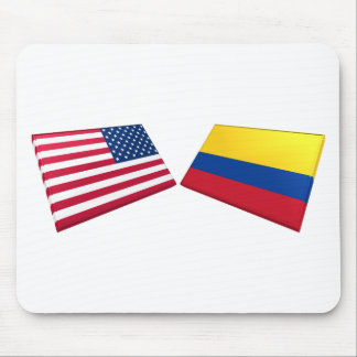US & Colombia Flags Mouse Pad