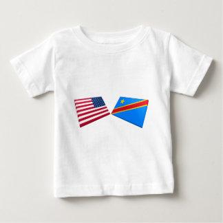 US & Congo Democratic Republic Flags Baby T-Shirt