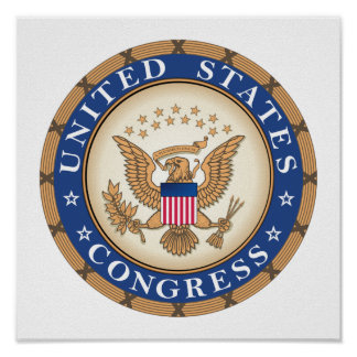 US Congress Seal Poster