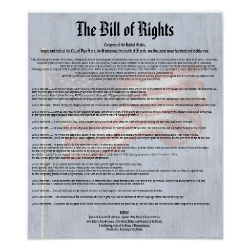 constitution and bill of rights discussion Suggested essay topics and study questions for history sparknotes's the constitution the federalist papers and the bill of rights: 1788–1791 washington.