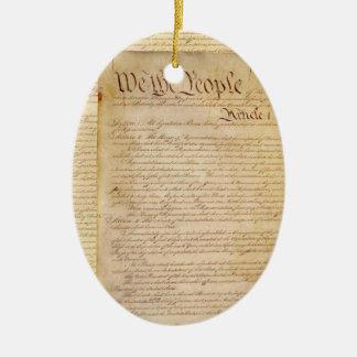 US CONSTITUTION CERAMIC ORNAMENT
