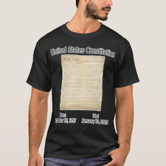 US Constitution Died 1/20/09 T-Shirt